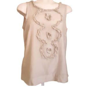 J.CREW | cotton and silk ruffle blouse tank top